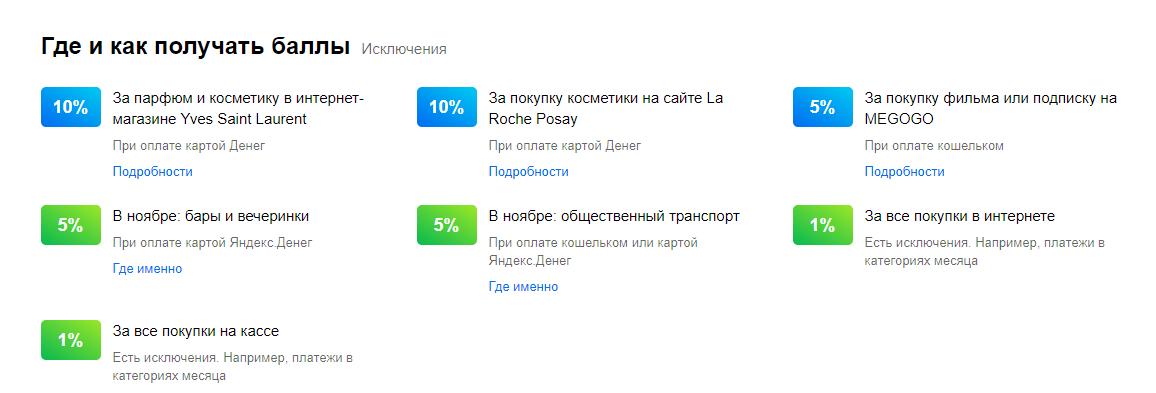 Проценты кешбека